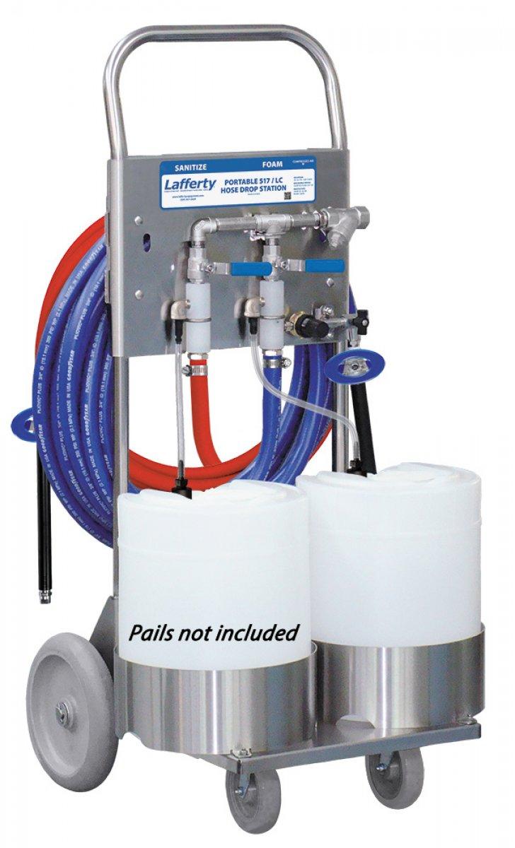 Portable 517 Sanitize Lc Foam Hose Drop Station